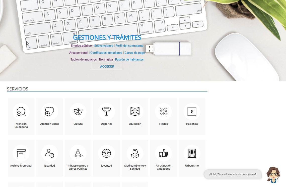Santa Cruz incorpora a su web un servicio de asistencia virtual que resuelve dudas sobre el coronavirus