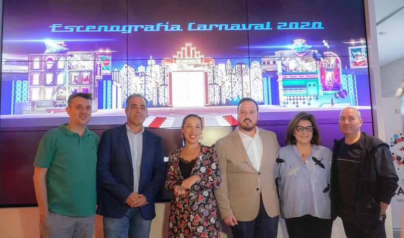 Santa Cruz presenta un escenario para el Carnaval 2020 lleno de volúmenes y fiel a los coquetos años 50