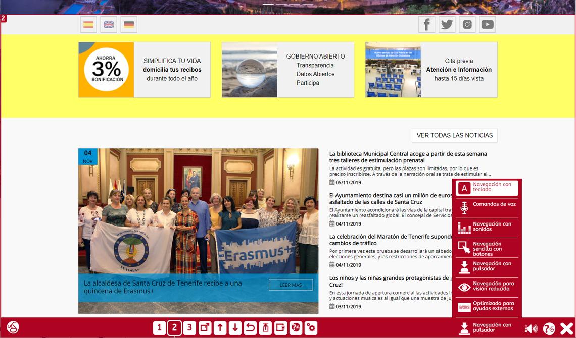 Resultado de imagen de sede electronica ayuntamiento santa cruz de tenerife