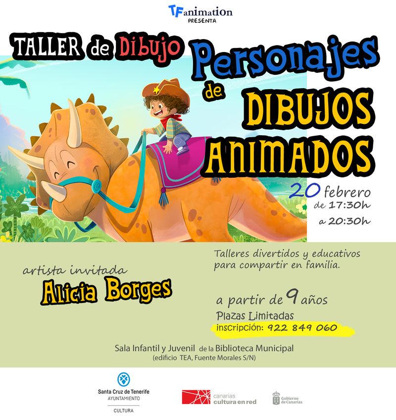 La Biblioteca Municipal Central organiza una masterclass y un taller de dibujo de personajes de animación