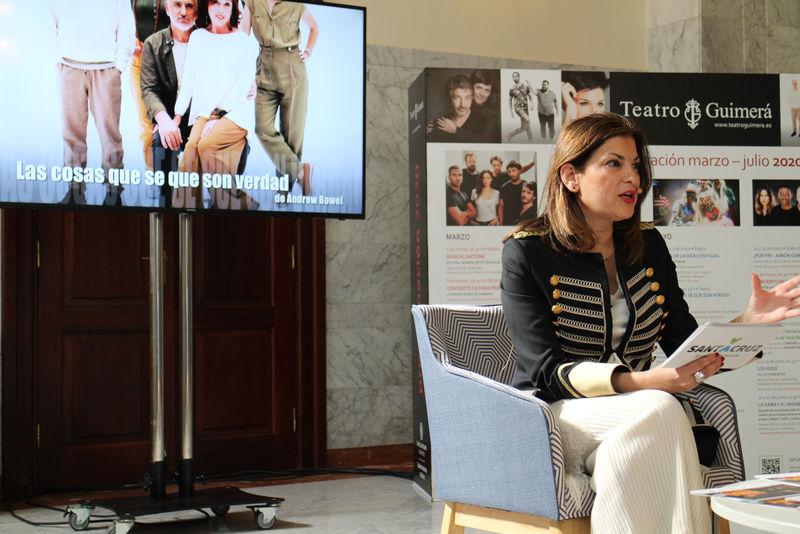 Foto de la teniente de alcaldesa y presidenta del Organismo Autónomo de Cultura (OAC), Matilde Zambudio durante la presentación de la programación de marzo a julio de 2020