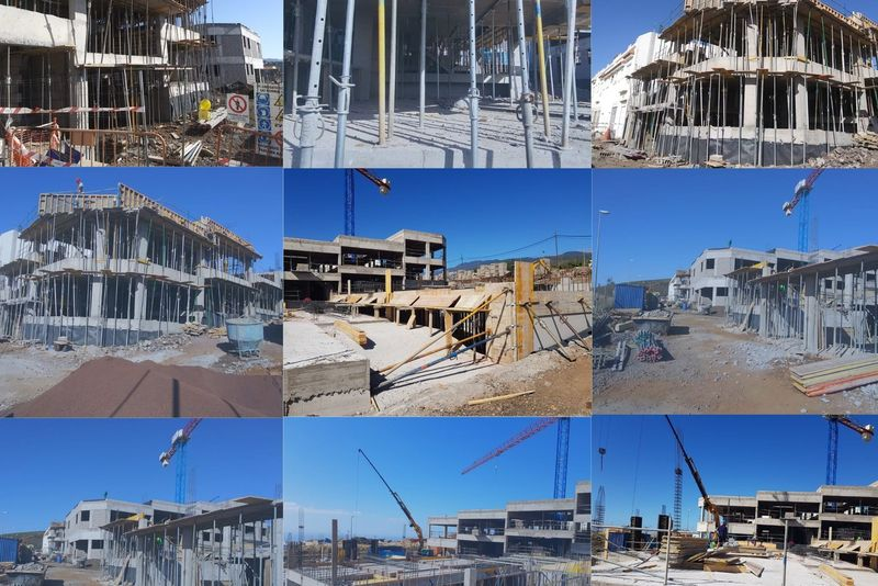 Collage de fotos de las obras