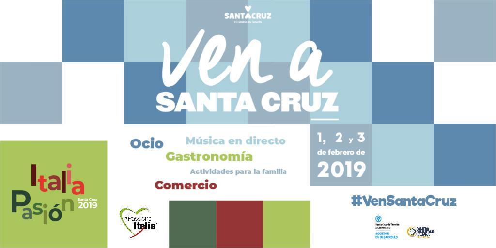 """Cartel del """"Ven a Santa Cruz"""""""